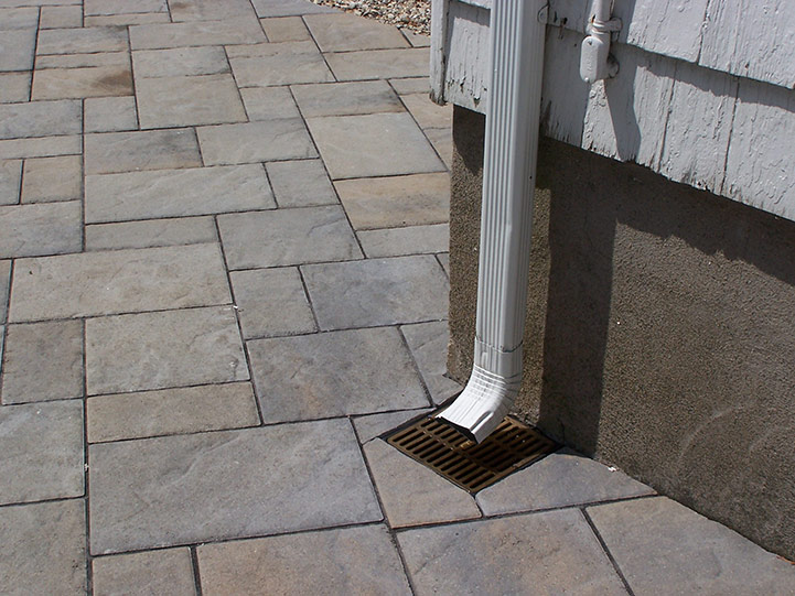 underground drainage for patio