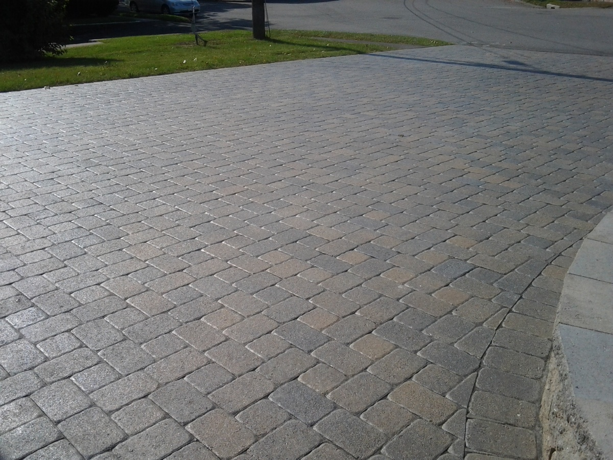 Paving stone with an old world look.