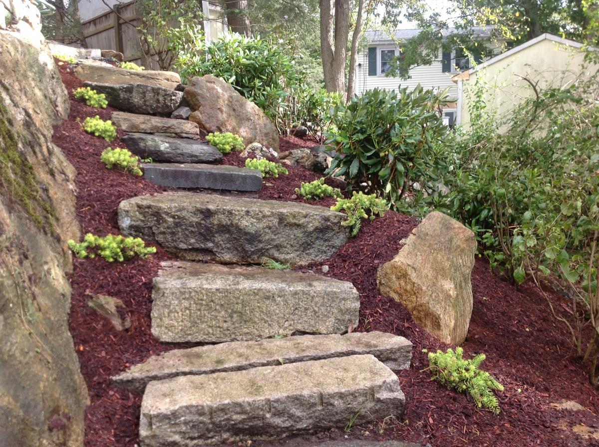 stone steps, Melrose, MA