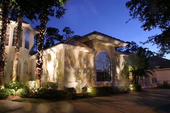 landscape cast lighting, architectural up-lighting