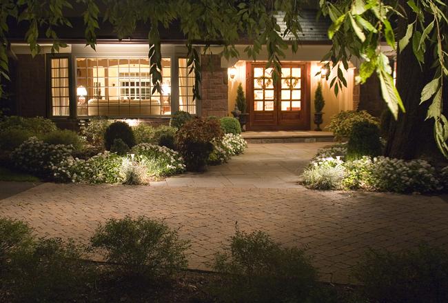 soft lights outdoors