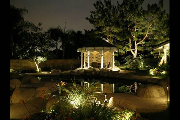elegant landscape lighting design