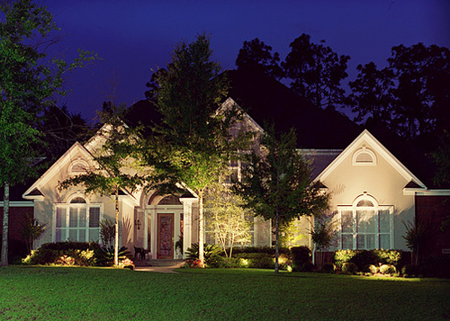 landscape lighting services, Winchester, MA