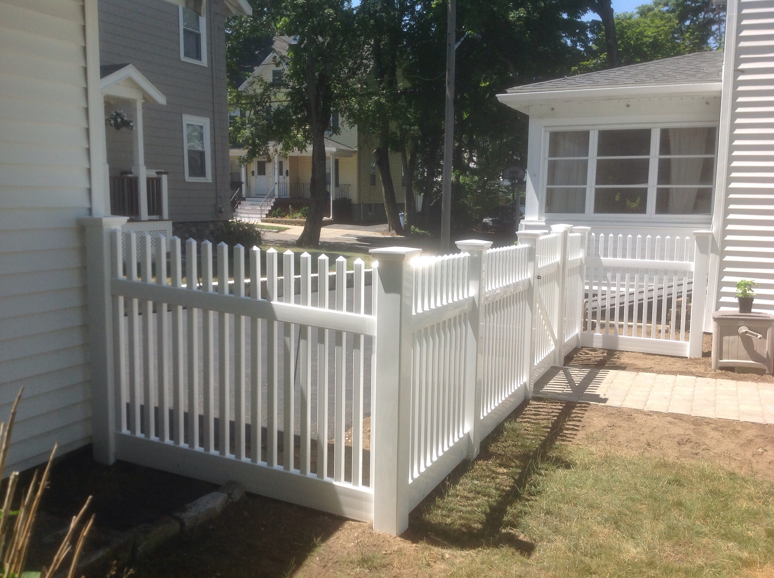 Vinyl Open Picket fence