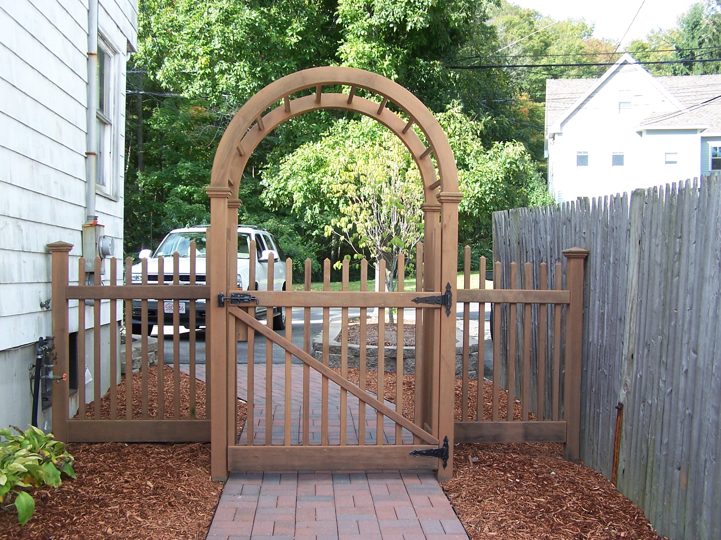 Cedar Gated Arbor & Fence