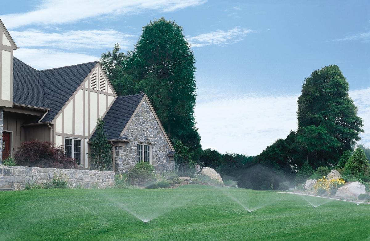 irrigating landscape