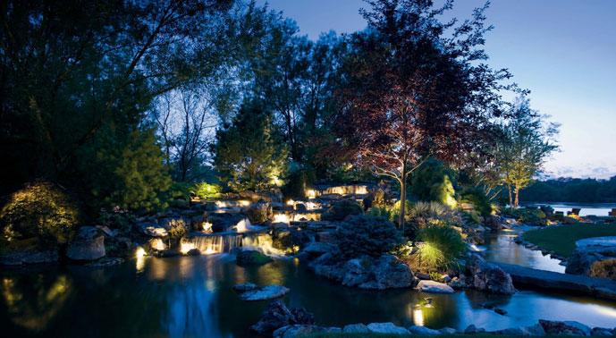 patio lighting, lighting water features