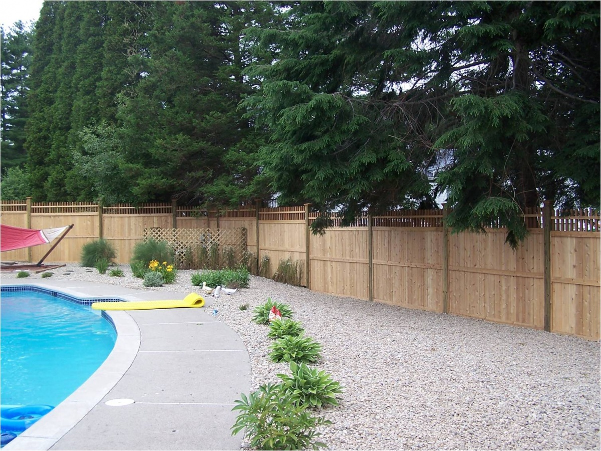 Customized wooden privacy fence