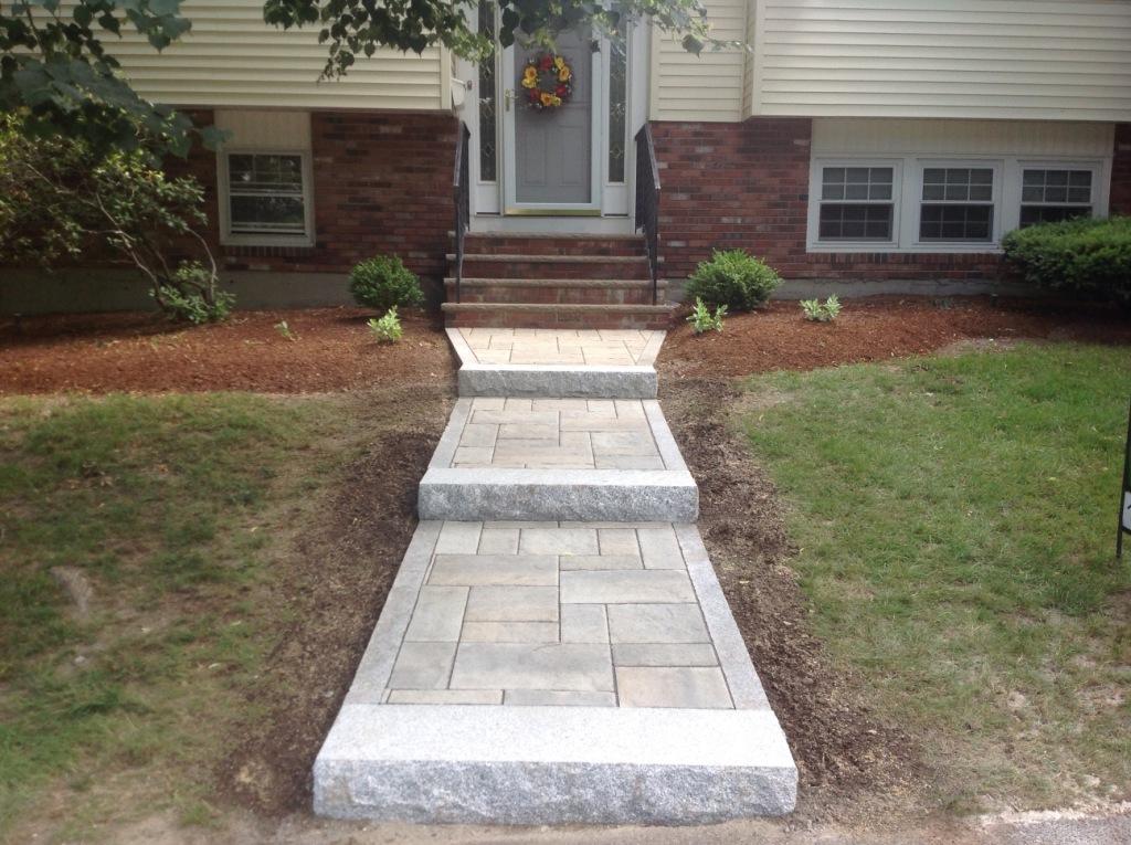 walkway with Granite