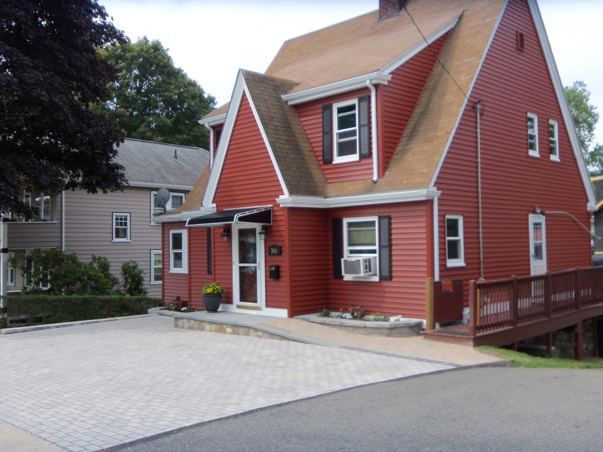 Permeable Paver Driveway, Winchester, MA