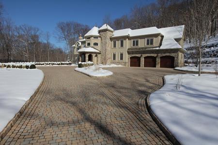 Heated driveway, landscape design