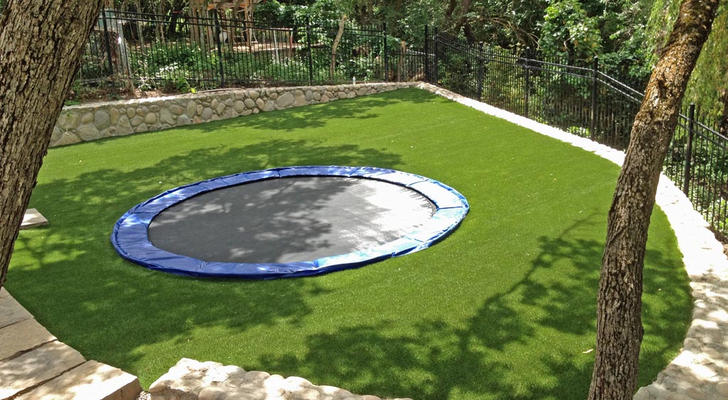 Synthetic turf for playground surfaces.