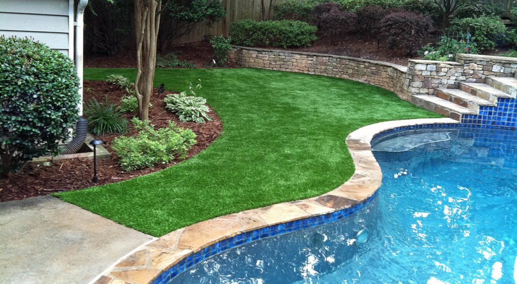 Synthetic turf - perfect for pool areas!