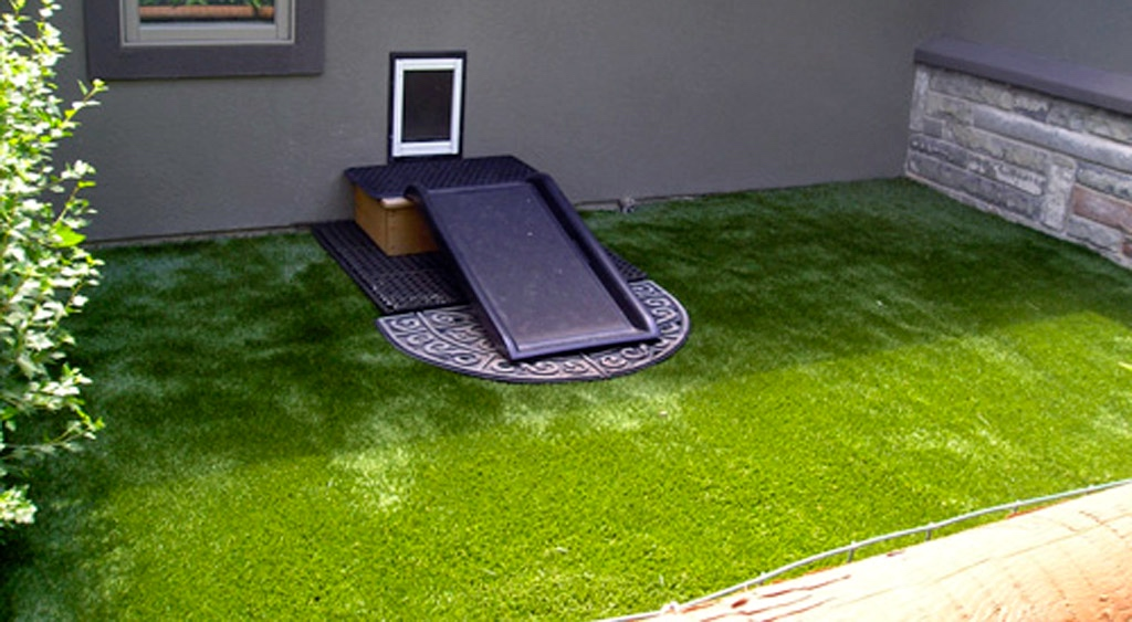 Synthetic grass benefits pet owners.