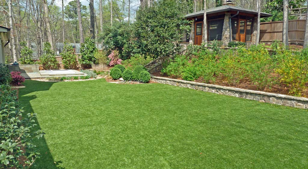 synthetic grass stays lush and resilient