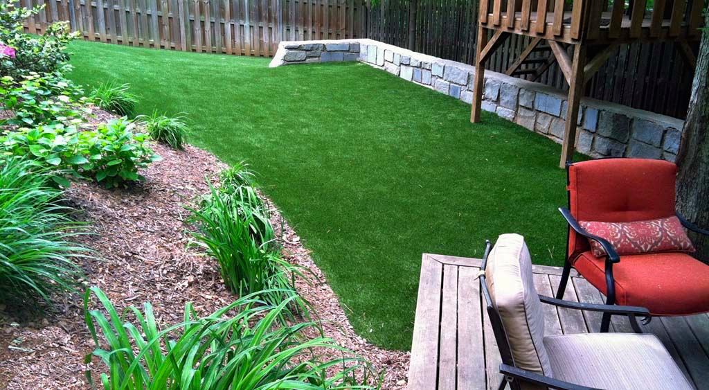 Synthetic grass saves water.