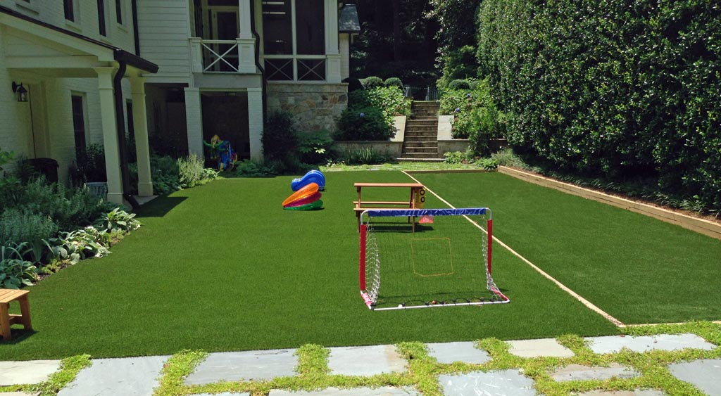 Synthetic turf - perfect for games!