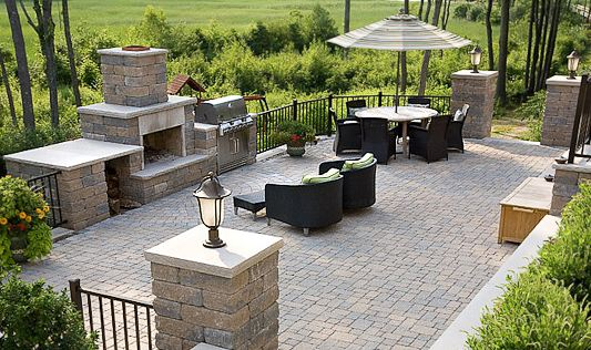 Patio Area with fireplace andGrill