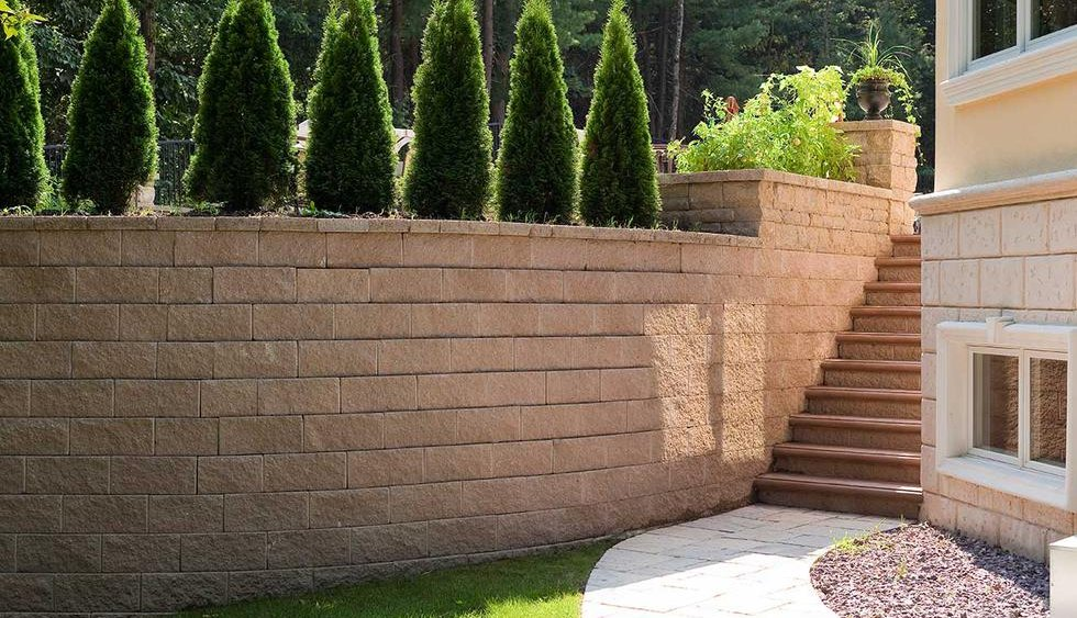 Wall design adds rustic charm to your landscape.