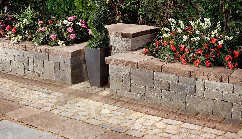 Rustic and traditional retaining wall.