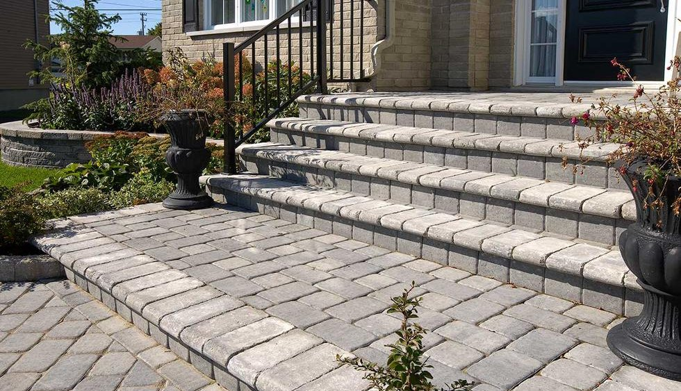 Paver steps and landing.