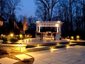 Outdoor lighting installed in Melrose, MA