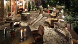 Patio lighting and audio