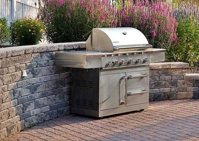 BBQ grill on patio
