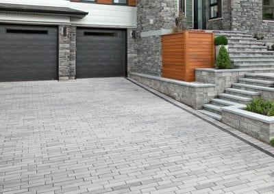 low maintenance masonry driveway, Melrose, MA