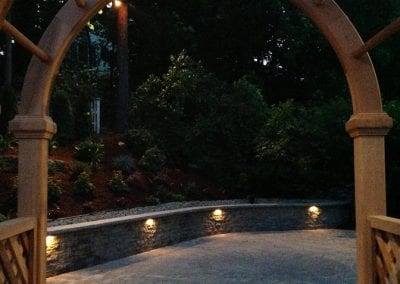 Arbor as entrance to patio.