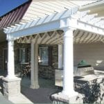 Pergola with awning in Melrose